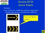 section 6f 56 arrow panels
