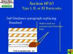 section 6f 63 type i ii or iii barricades
