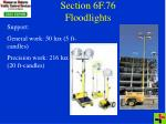 section 6f 76 floodlights
