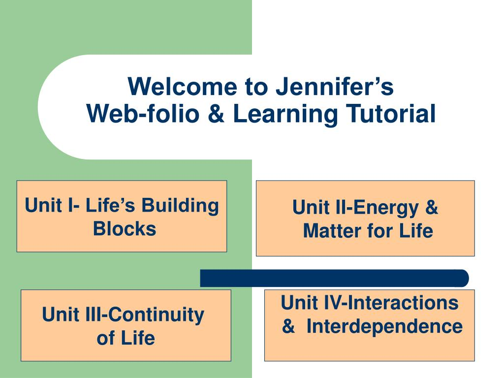 welcome to jennifer s web folio learning tutorial l.