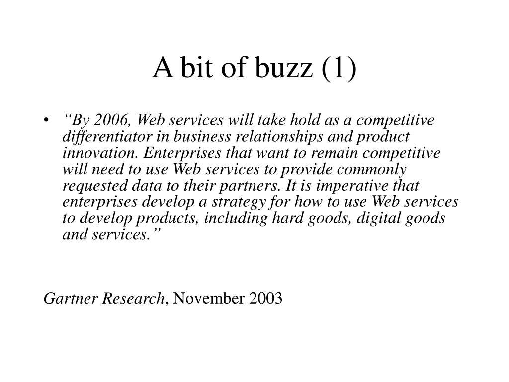 A bit of buzz (1)