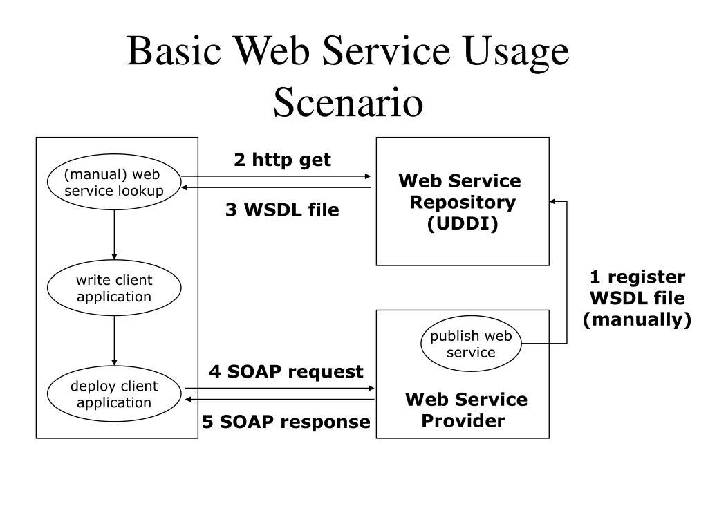 Basic Web Service Usage Scenario