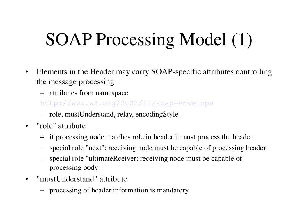 SOAP Processing Model (1)