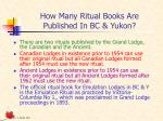 how many ritual books are published in bc yukon