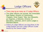 lodge officers