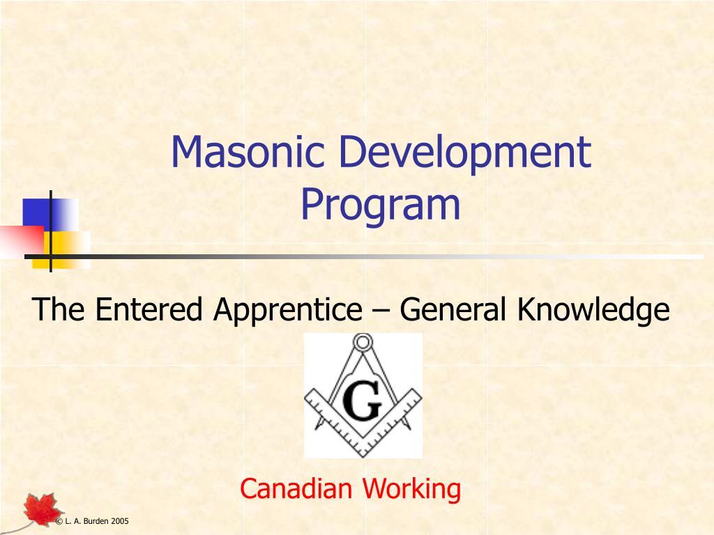 masonic development program l.