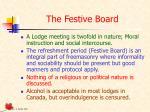 the festive board