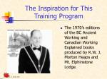 the inspiration for this training program