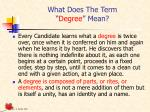 what does the term degree mean