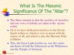 what is the masonic significance of the altar