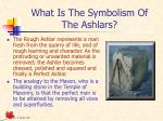what is the symbolism of the ashlars