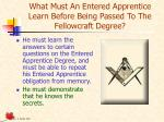 what must an entered apprentice learn before being passed to the fellowcraft degree