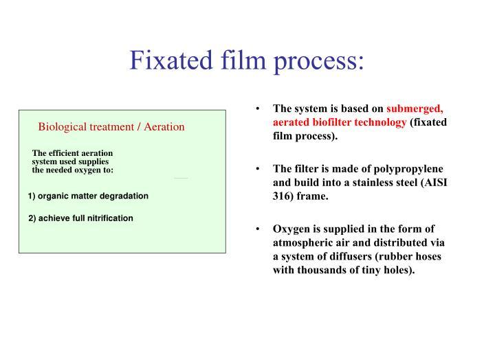 Fixated film process: