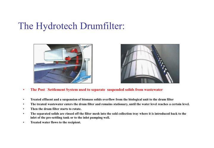 The Hydrotech Drumfilter: