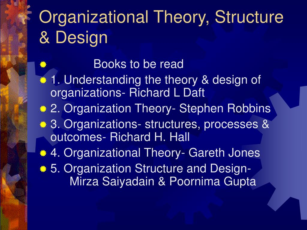 Ppt Organizational Theory Structure Design Powerpoint Presentation Id 663841