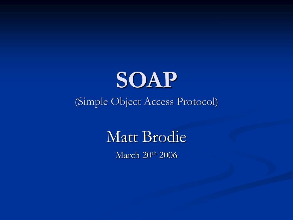 soap simple object access protocol l.