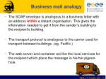 business mail analogy