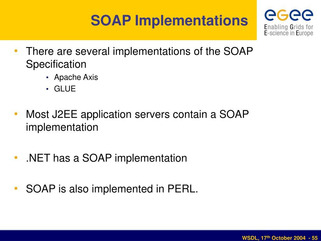 SOAP Implementations