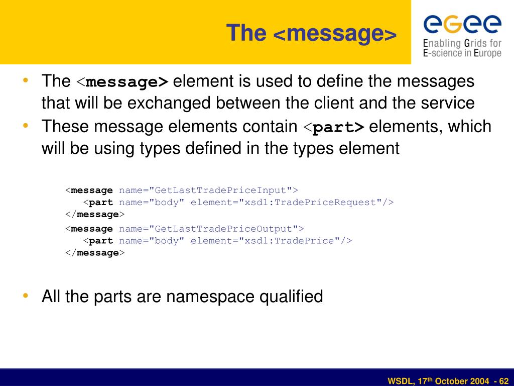 The <message>