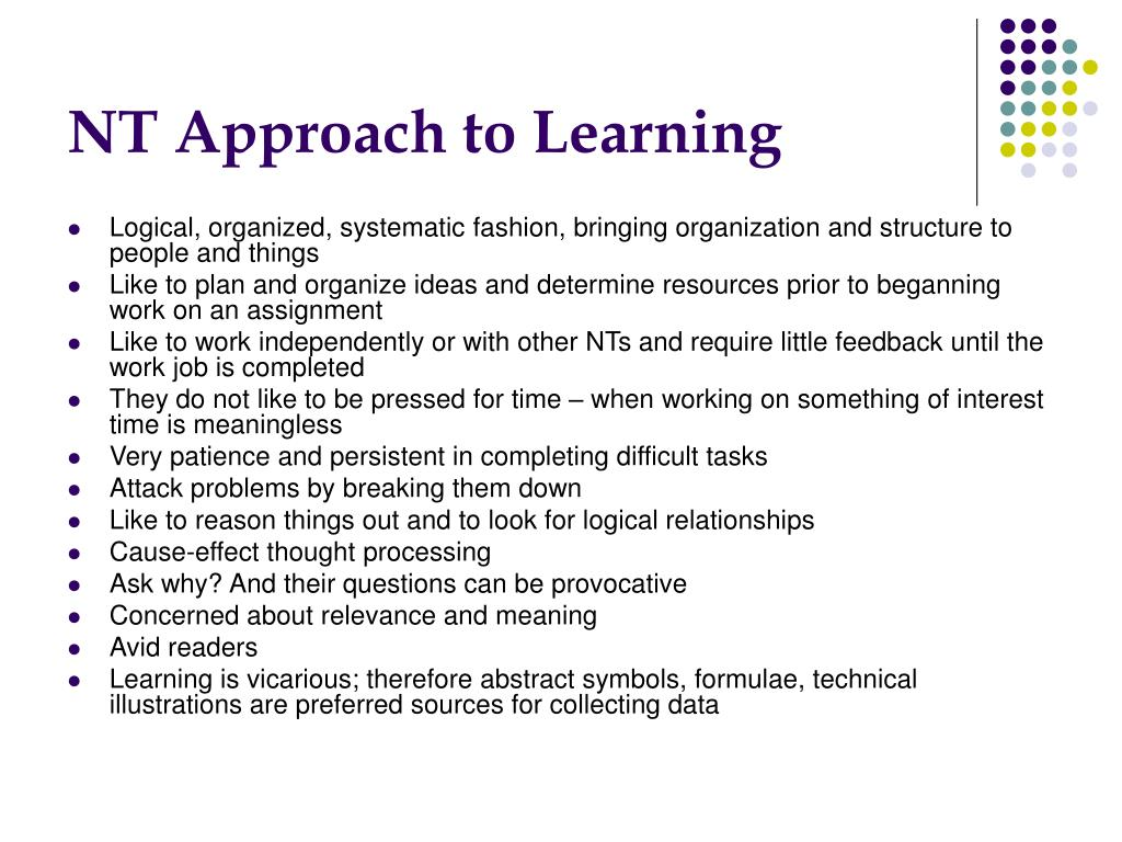 NT Approach to Learning