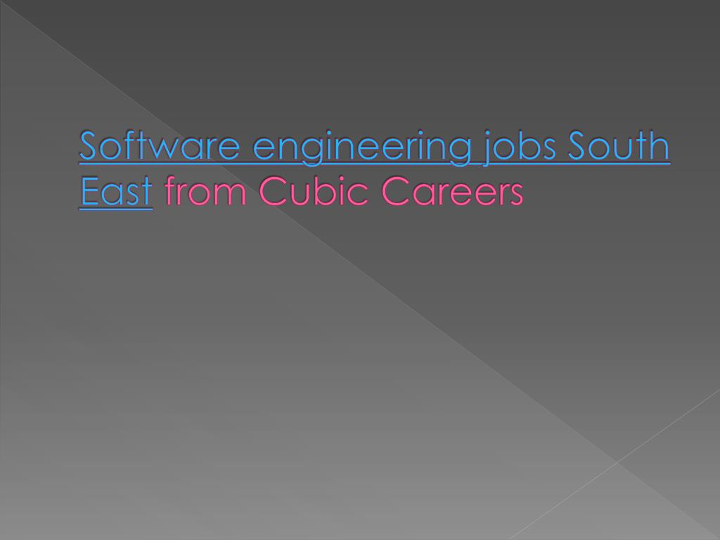 software engineering jobs south east from cubic careers l.
