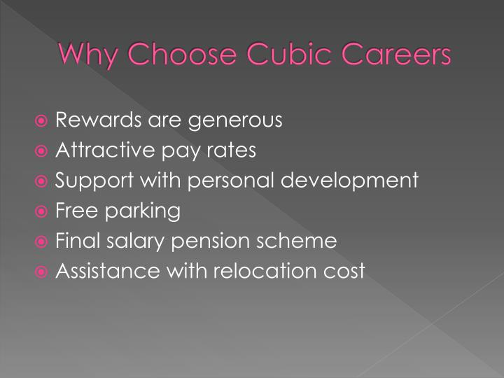 Why choose cubic careers