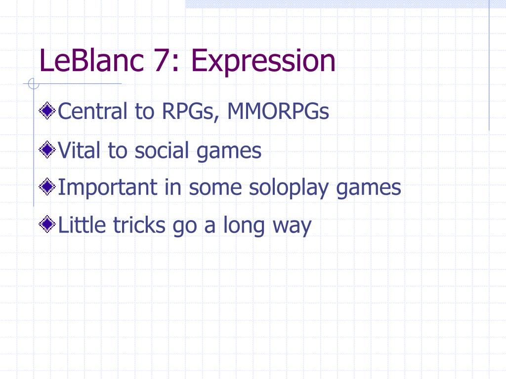 LeBlanc 7: Expression