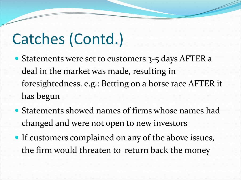 Catches (Contd.)