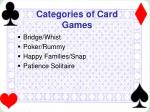 categories of card games