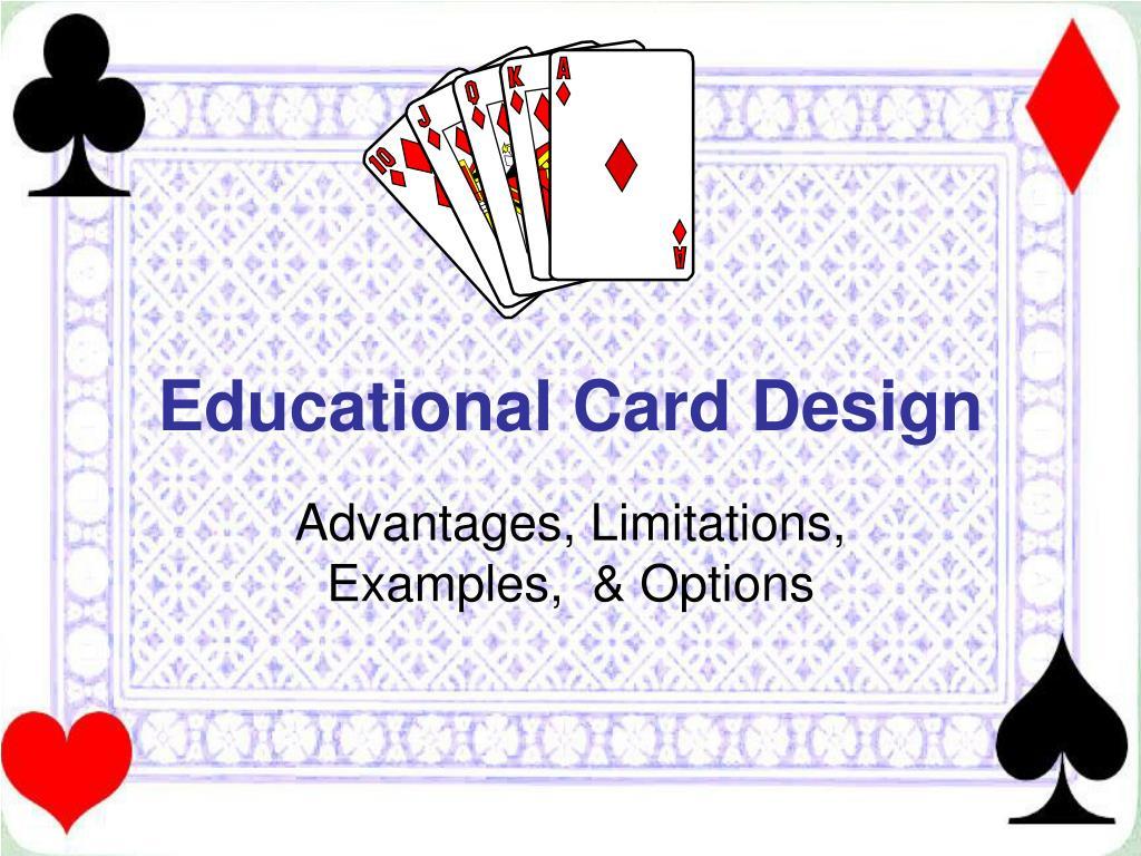 educational card design l.