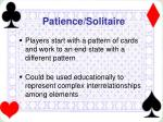 patience solitaire