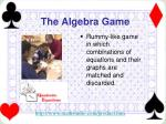 the algebra game