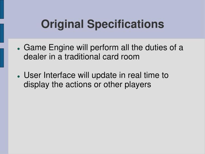 Original specifications3
