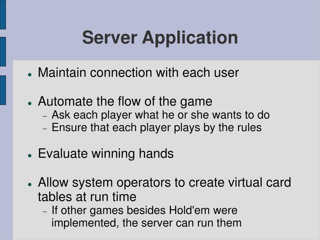 Server Application