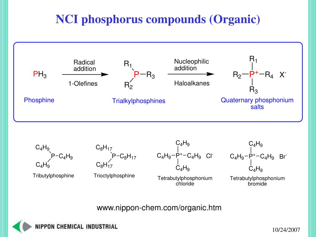 NCI phosphorus compounds (Organic)