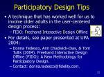 participatory design tips