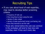 recruiting tips