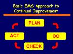 basic ems approach to continual improvement
