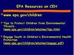epa resources on ceh
