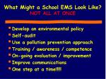 what might a school ems look like not all at once