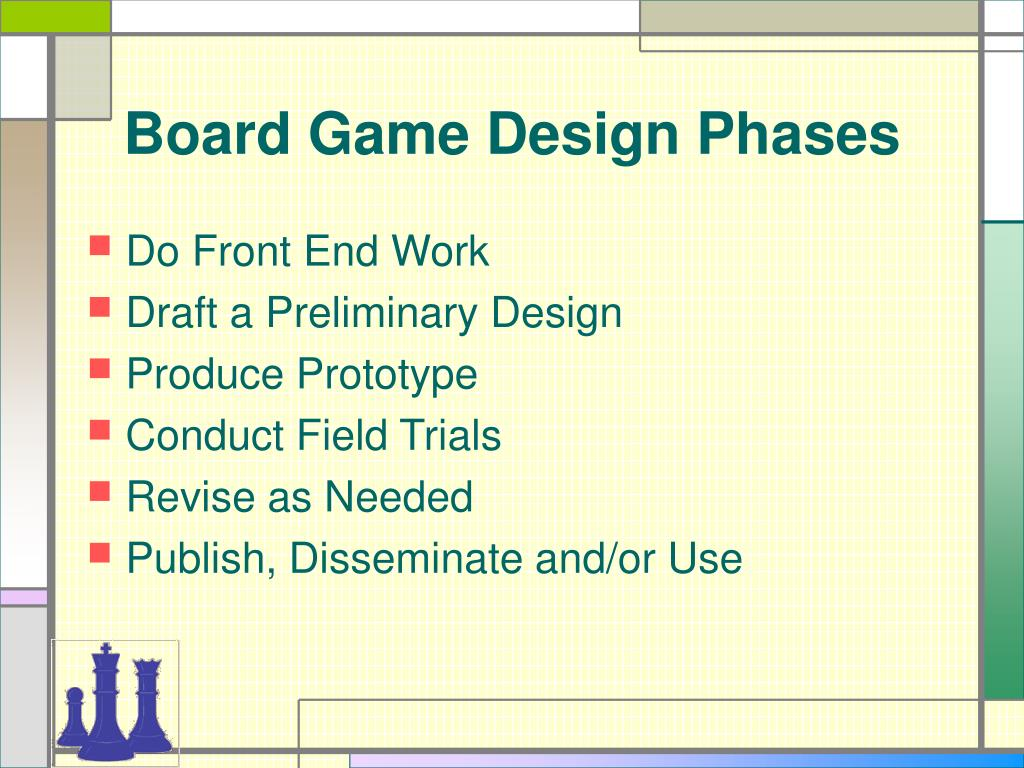 Board Game Design Phases