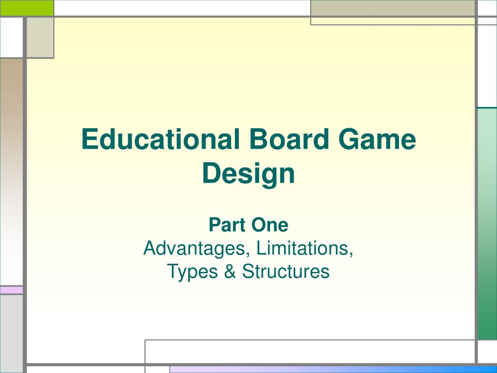educational board game design l.