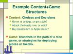 example content game structures14