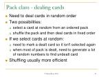 pack class dealing cards