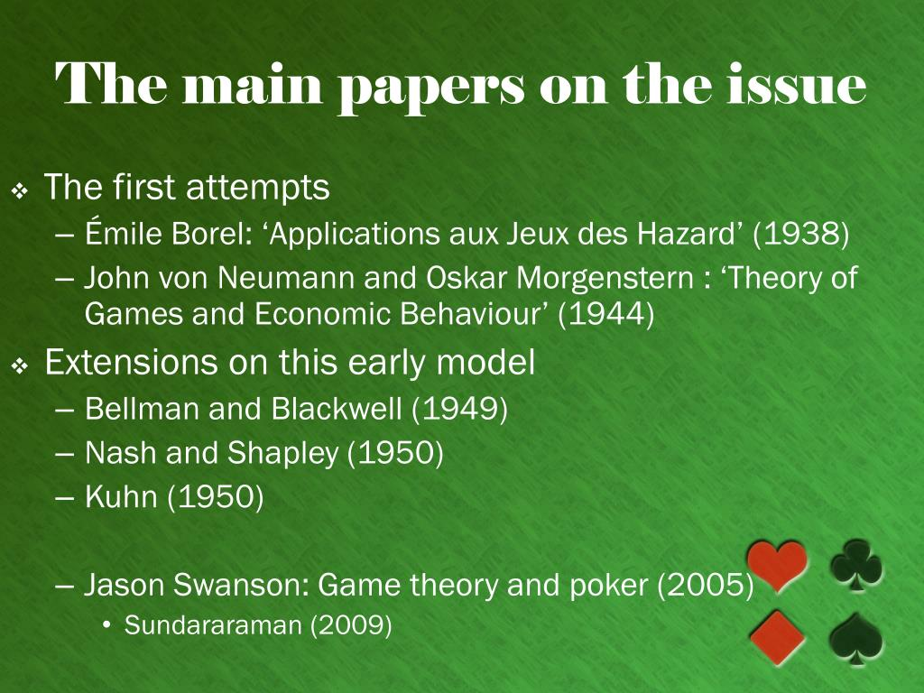 The main papers on the issue