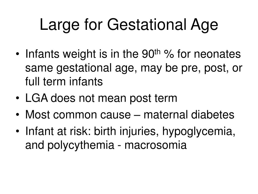 Large for Gestational Age