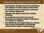 kalamazoo college graduates will