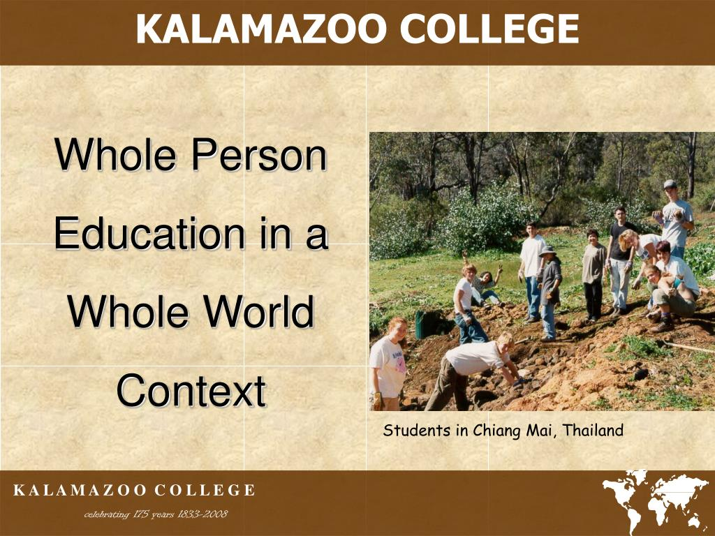 whole person education in a whole world context l.