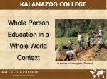 whole person education in a whole world context
