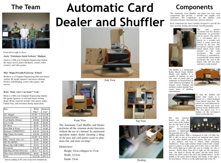 Automatic Card Dealer and Shuffler